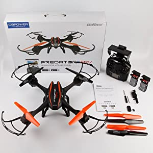 DBPOWER Predator U842 WIFI RC Quadcopter Drone with HD Camera - HK Shared Dream