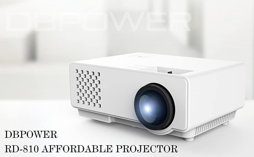 DBPOWER RD-810 LED Portable Projector Black - HK Shared Dream