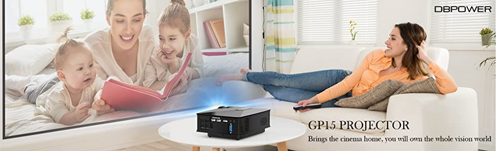 Projector 2018 Upgraded Dbpower Mini Projector 50