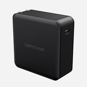 DBPOWER 60W USB PD & QC2.0 USB C Adapter Black - HK Shared Dream