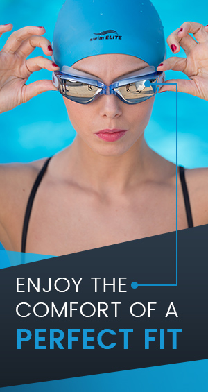 Swim Elite Mirrored Swimming Goggles For Men And Women Exclusive Swim Cap