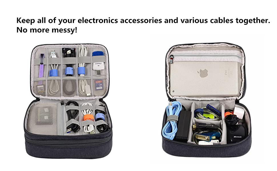 Amatory electronics organizer bag