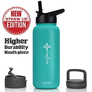 insulated stainless steel water bottle with straw lid