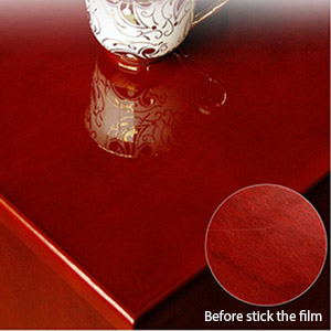 Covering the fine lines on the furniture surface