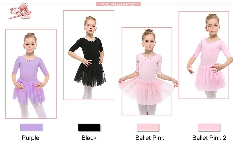3f9c3a3c7939 Amazon.com  STELLE Toddler Girls Cute Tutu Dress Leotard for Dance ...