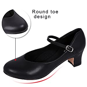 character shoes round toe designed for comfort