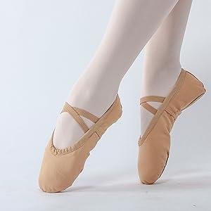 Classic Canvas Ballet Shoes for Women