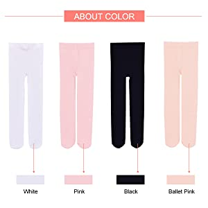 Tights for girls in 4 colors