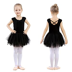 0af50e1e8a This cute short sleeve dress leotards is made with high quality cotton  materials. (92% cotton, 8% Spandex)