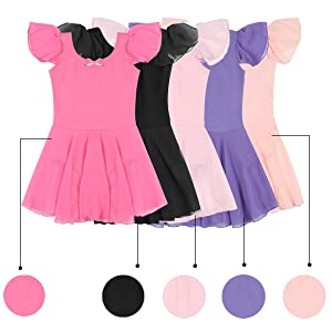 27da9c99a688 STELLE Girl s Ruffle Sleeve Dress Leotard with front bow – Stelle World