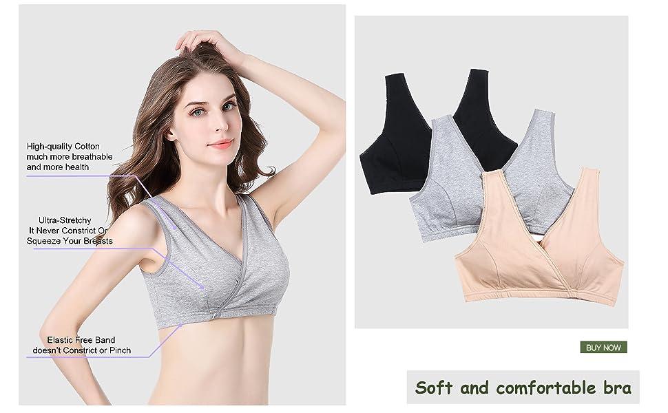 c1f53bfc9f087 STELLE Women s Soft Cotton Wireless Nursing Sleep Bra For Maternity ...