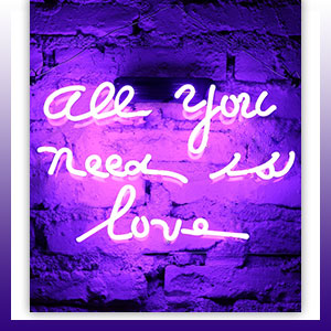 Fuyalin neon sign all you need is love home decor light bedroom enlightening up your space at any moment a magic moment stopboris Gallery