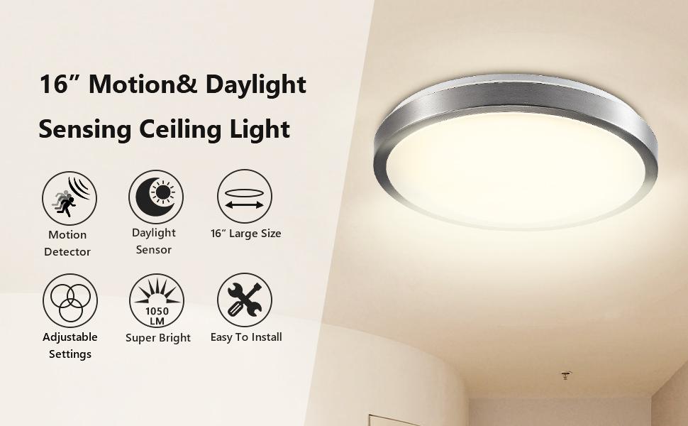 Amazon.com: Corso - Lámpara de techo LED moderna de 16 ...