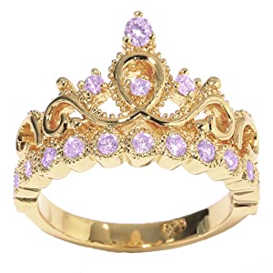 Amazon.com: 14K Gold Princess Crown with Alexandrite