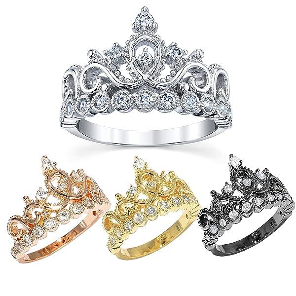 Amazon.com: 14K Gold Princess Crown With Diamond