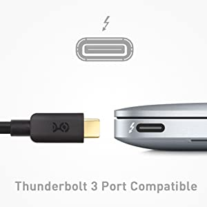 Cable Matters USB C to DVI Adapter (USB-C to DVI Adapter) in Black -  Thunderbolt 3 Port Compatible for MacBook Pro, Dell XPS 13, 15, HP Spectre  x360,