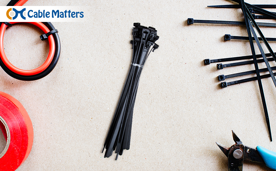 38ce3f1470f8 Amazon.com: Cable Matters Combo Pack Assorted 200 Self-Locking 6+8+ ...