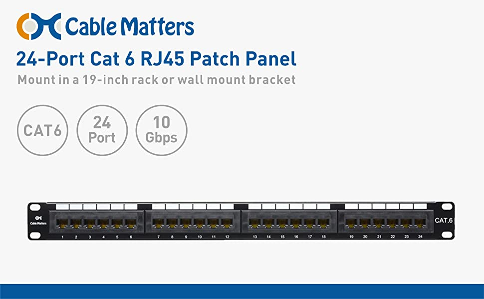 dAtipuKRWeE._UX970_TTW__ amazon com [ul listed] cable matters rackmount or wallmount 24 krone patch panel wiring diagram at panicattacktreatment.co