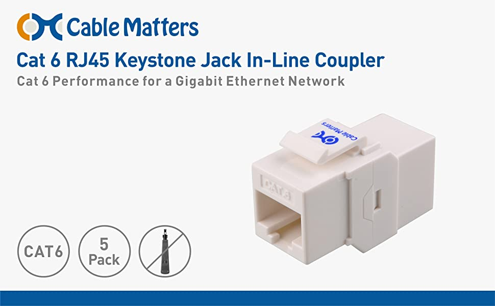 Super Amazon Com Ul Listed Cable Matters 5 Pack Cat6 Rj45 Keystone Wiring Digital Resources Xeirawoestevosnl