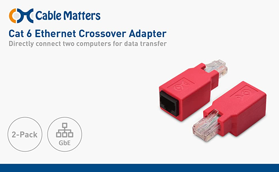 amazon com cable matters 2 pack cat 6 cat6 crossover adapter rh amazon com
