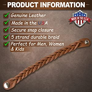 Leather Essential Oil diffuser Bracelet