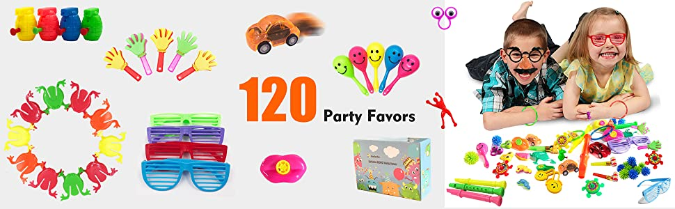 Amazon.com: 120 unidades de regalos de fiesta de juguete ...