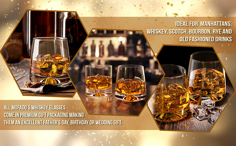 premium lead free whiskey glasses