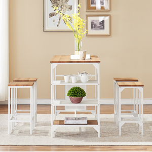 Bar Height Dining Table Set Counter