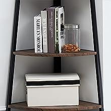 open storage shelves