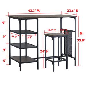 bar stools and table set