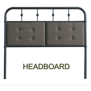 metal bed with headboard and footboard
