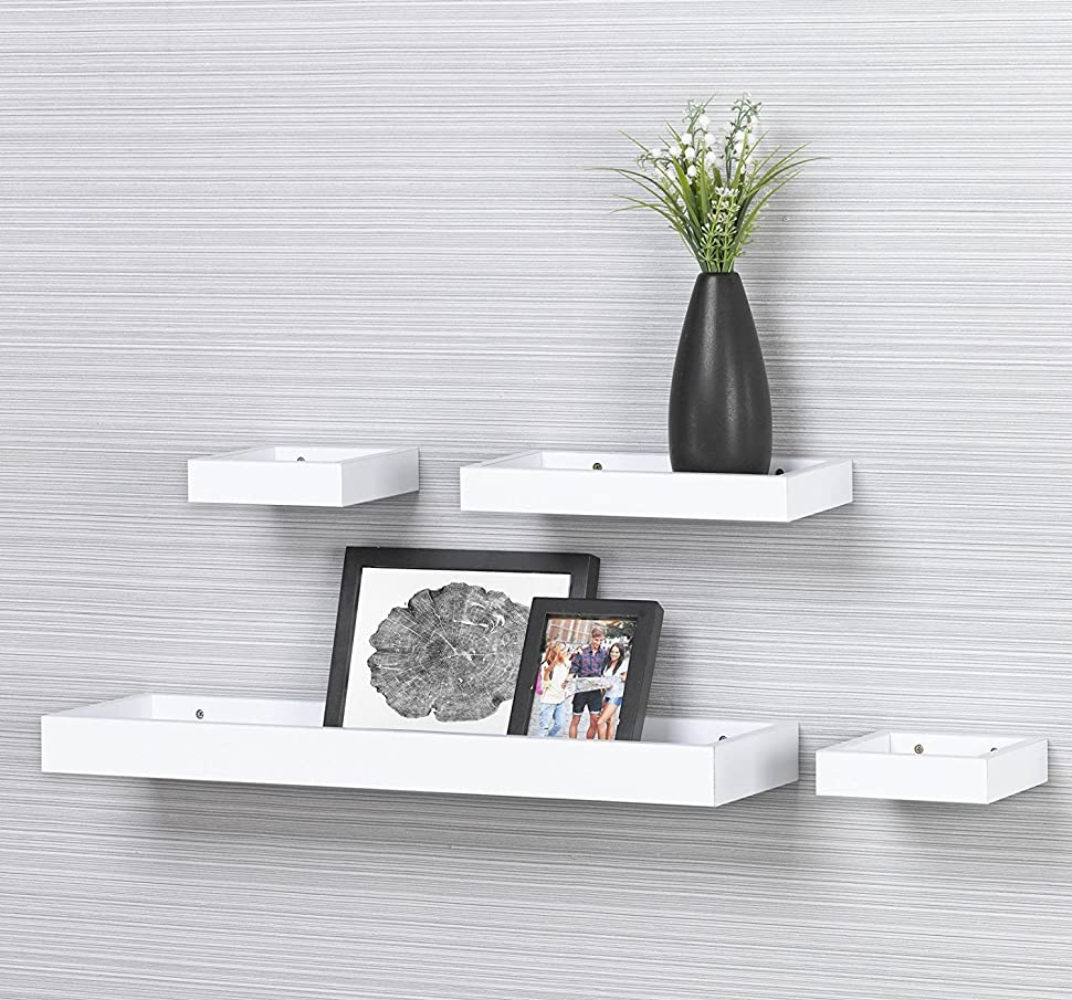 Ok furniture set of 4 floating shelves are a great way to spruce up any decor