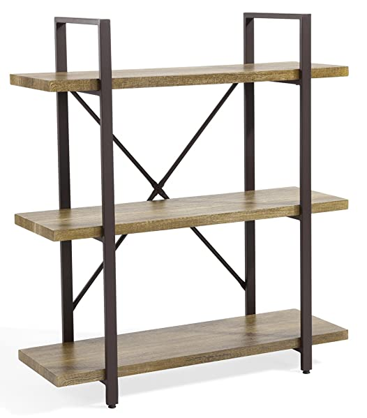 ou0026k furniture 3shelf rustic shelving unit features three sturdy shelves which are easily assembled for a multitude of storage and display options