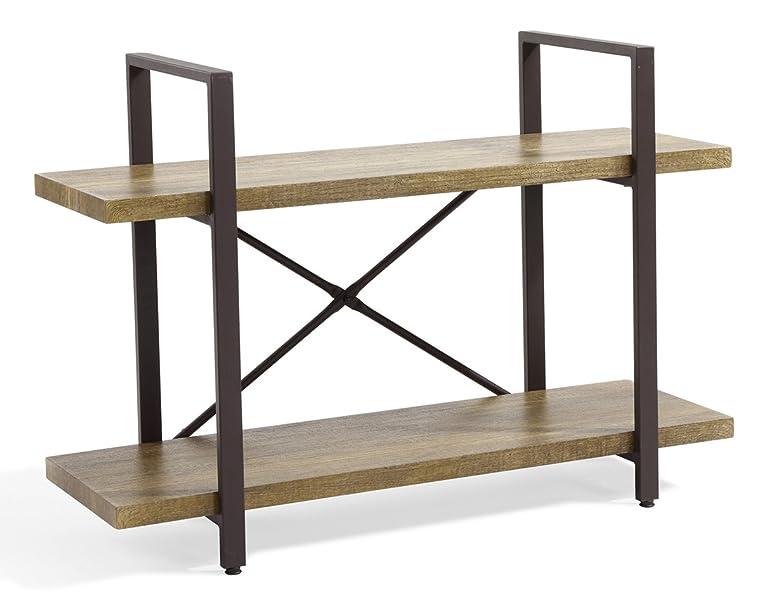open shelf bookcase designs amazoncom ok furniture 2 tier bookcase vintage industrial