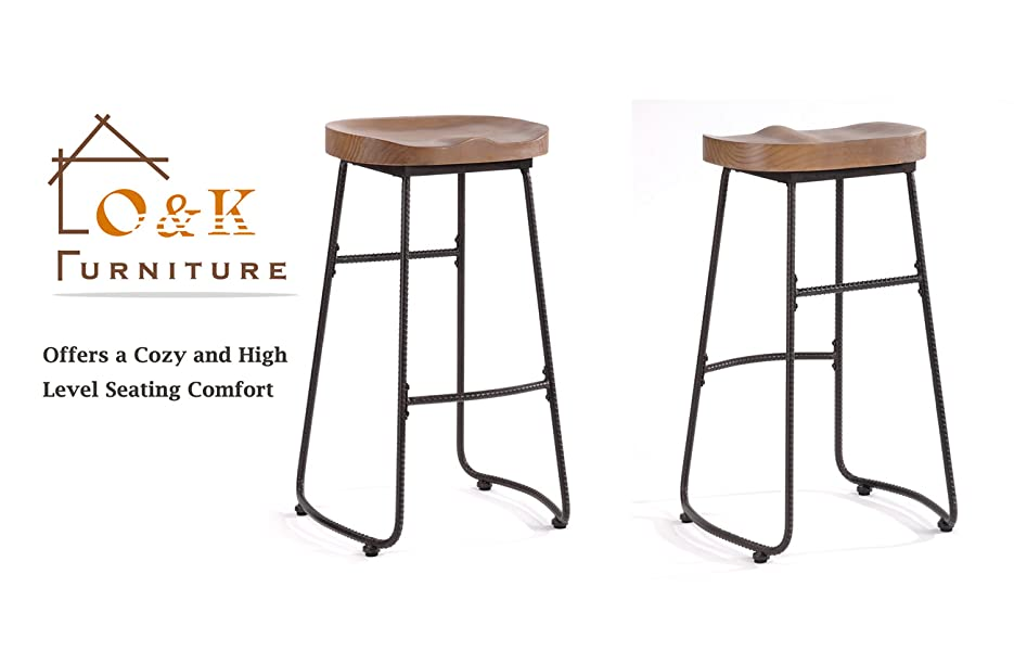 O k furniture 30 inch counter height stool - Amazon bedroom chairs and stools ...