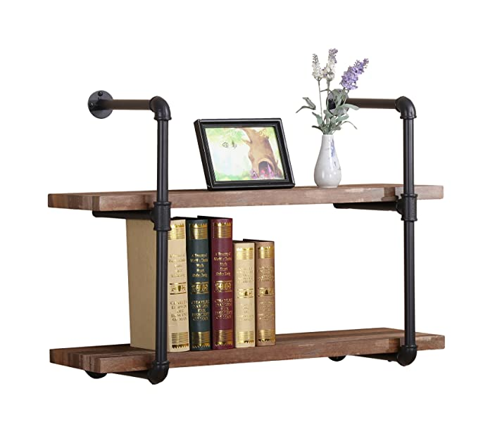 Pipe Shelf Kitchen: Amazon.com: O&K Furniture 31-Inch Vintage Industrial Pipe