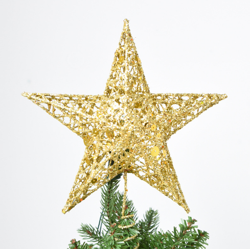 Sricam Christmas Tree Topper 7 8 Wire Gold Tree Star For Chirstmas Decoration