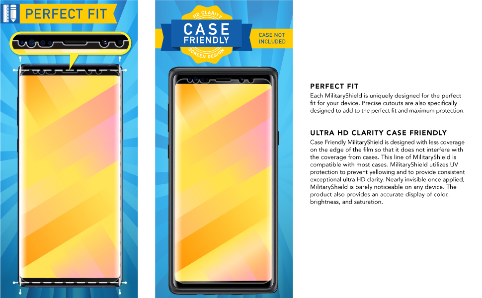 note 9 case friendly screen protector