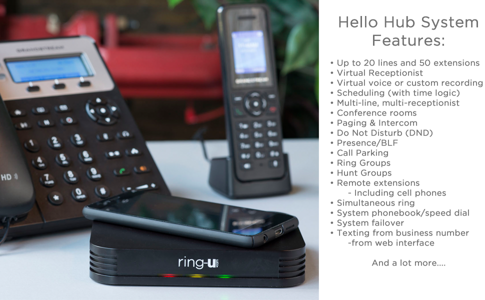 Pbx Phones Systems Office Products Ring U Hello Hub Small Business Phone System Up To 20 Lines And 50 Extensions And Service Keep Your Number Voip Set Up Is Easier Than A Wireless