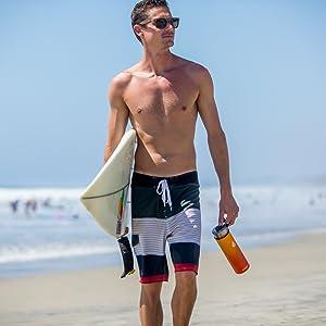 Water Bottle Hydration Leak Proof Sweat Proof 22 oz Beach Summer Hot Cold