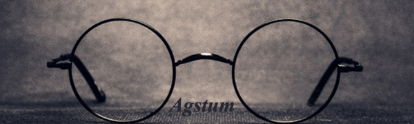 5fa45a1604 Amazon.com  Agstum Pure Titanium Retro Round Prescription Eyeglasses ...