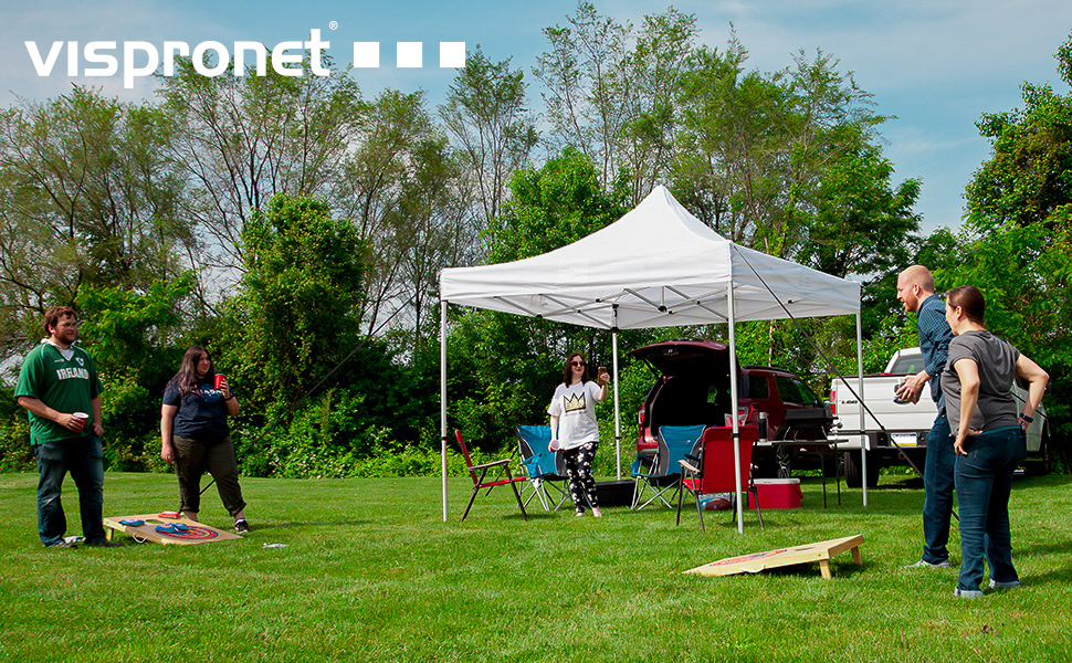 canopy tent 10x10 sidewalls waterproof water resistant backyard beach tailgate party stall tradeshow