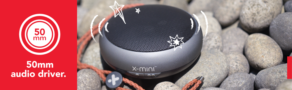 X-mini KAI X1 portable bluetooth speaker 50mm audio driver