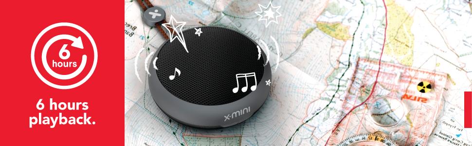 X-mini KAI X1 portable bluetooth speaker 6 hours playtime music audio