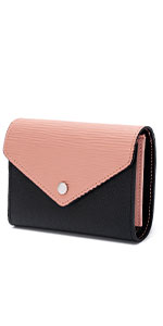 WOZEAH Womens RFID Blocking PU Leather Zip Around Wallet ...