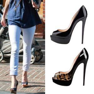 8cacb4c8944 EASY MATCH. This stiletto pumps with the peep toe ...