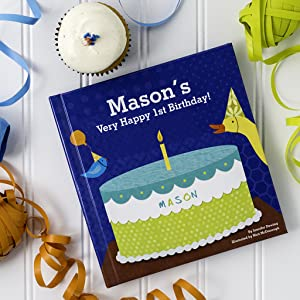 Personalized Birthday Party Book Boys 1st Gift