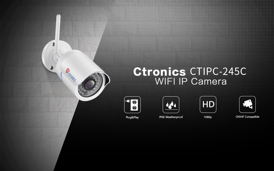 Ctronics 1080p HD Wireless Security IP Camera