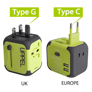Amazon Com Travel Adapter Uppel Dual Usb All In One Worldwide Travel Chargers Adapters For Us