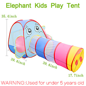 children play tents set has a unique 100cm long crawl tunnel (l*d100*45cm)and elephant game house tent(w*l*h100*100*90)the child playhouse can give kids ...  sc 1 st  Amazon.com & Amazon.com: Kingstar Kids Play Tent with TunnelOutdoor Elephant ...